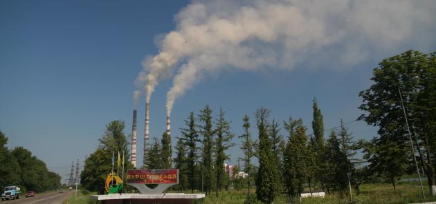 Burshtinska kulkraftværk, Ukraine